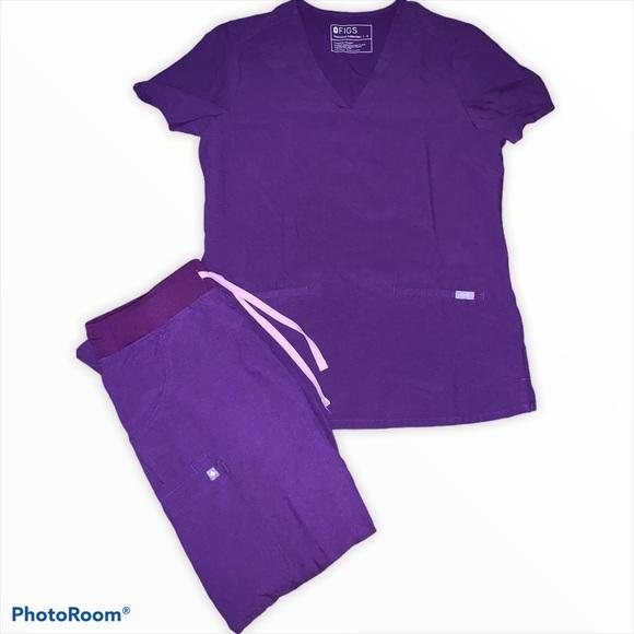Women's FIGS purple scrubs set